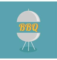 Bbq grill party invitation card flat design icon vector