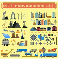 Industry map elements vector