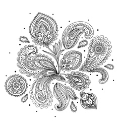 Beautiful indian paisley ornament vector