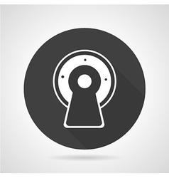 Mri black round icon vector