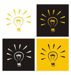 Light bulb icon set vector