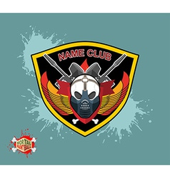 Paintball emblem club wings of fire and paintball vector