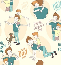 Festive seamless doodle pattern for fathers day vector
