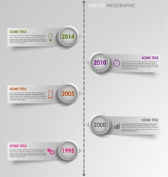 Info graphic time line striped background vector