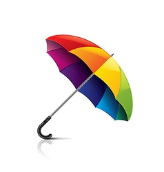 Colorful umbrella isolated vector