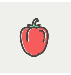 Bell pepper thin line icon vector