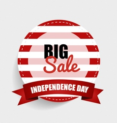 Big sale happy independence day 4th july vector
