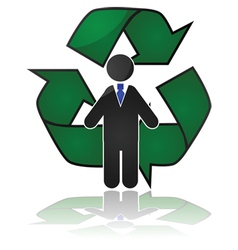 Employee recycling vector