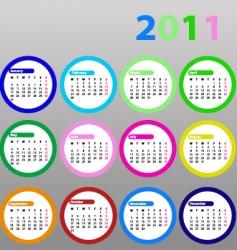 Calendar for 2011 vector