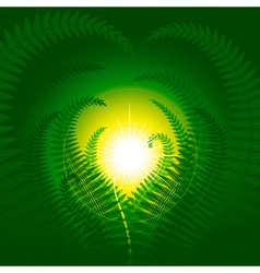 Magic fern vector