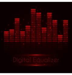 Digital red equalizer vector