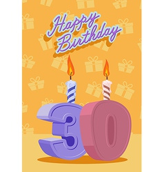 30 years celebration 30nd happy birthday vector