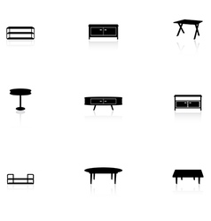Furniture icons - table vector