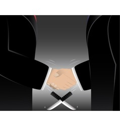 Business man shake hands vector
