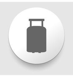 Travel luggage suitcase web black icon vector