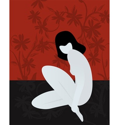 Nude girl sitting vector