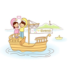 Couples love of travel vector
