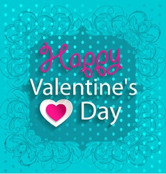 Happy valentines day design background with hearts vector