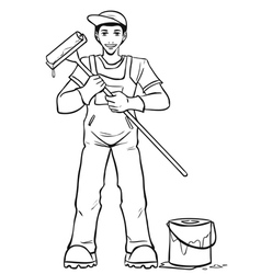 Worker in his equipment vector