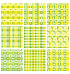 Patchwork patterns vector
