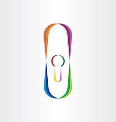 Door lock colorful icon vector