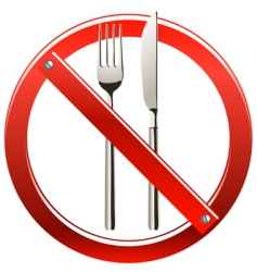 No eating sign vector