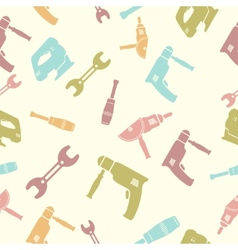 Seamless pattern of tools vector