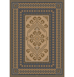 Calm coloring carpet with blue and brown shades vector