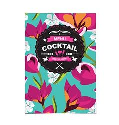 Cocktail bar menu template design vector