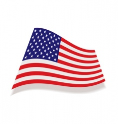 Usa stars and stripes flag vector
