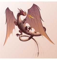 Flying dragon vector