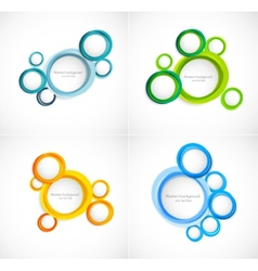 Set of circles backgrounds vector