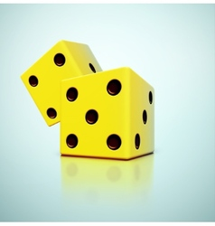 Yellow dices vector