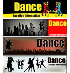 Ballroom dance banners vector