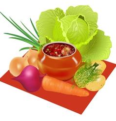 Vegetables pot vector