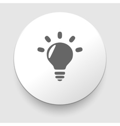 Light bulb symbol vector
