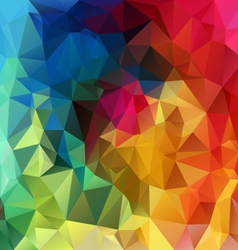 Rainbow spectrum polygonal triangular pattern vector