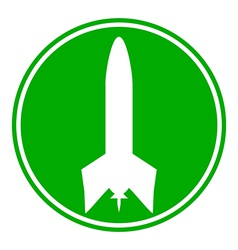 Rocket button vector