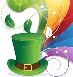Leprechaun hat and rainbow vector