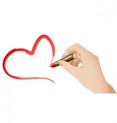 Lipstick heart vector