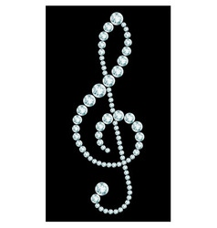 Diamond treble clef sign vector