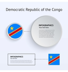 Democratic republic congo country set of banners vector