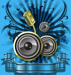 Blue musical background vector