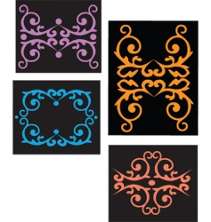 Floral filigree backgrounds vector