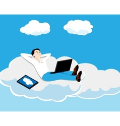 Person on a cloud vector