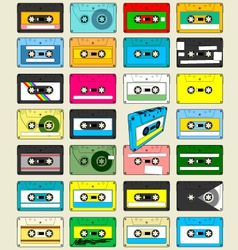 Audio cassette tape wallpaper vector