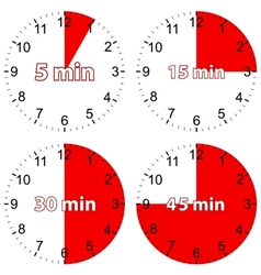New red set hours vector