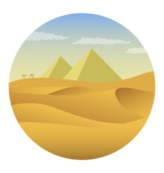 Pyramids in desert vector