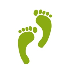Sketch of green footprint for your design vector