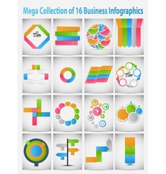 Mega collection infographic template business vector